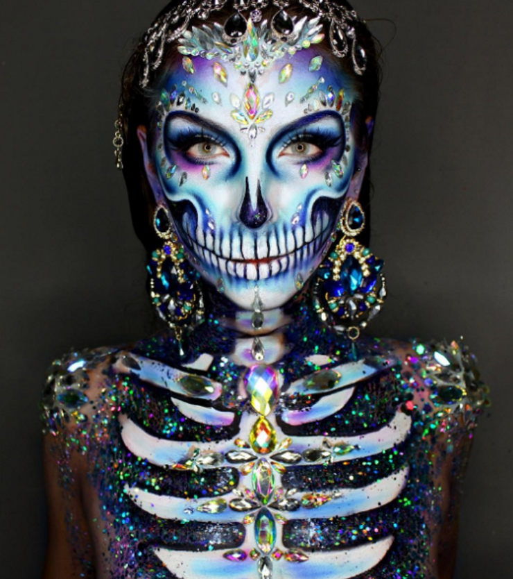 1. Halloweensky make-up