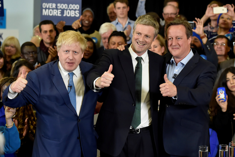 Boris Johnson, Zac Goldsmith, David Cameron