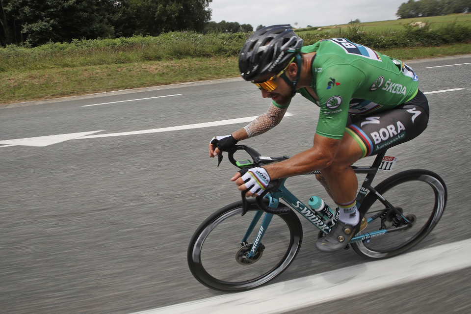 Sagan sa v 19. etape Tour de France trápi