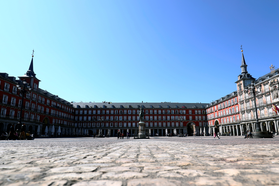 Námestie Plaza Mayor, Madrid, Španielsko